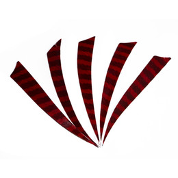 $enCountryForm.capitalKeyWord UK - 50pcs 5'' Left Wing Feathers for Glass Fiber Bamboo Wood Archery Arrows Hunting and Shooting Shield Red-black Fletching