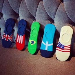 $enCountryForm.capitalKeyWord Canada - Best gift Silicone non-slip stealth cotton fashion flag pattern male men's shallow socks socks NW013