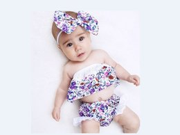 $enCountryForm.capitalKeyWord Canada - Special Offer Baby Girls Floral Bodices Top+Lace Briefs Set Summer Baby Boutique Clothing Cute Kids Girls Tops Outfits with Headband