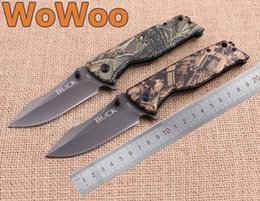 Camo Campements Pas Cher-Wowoo BUCK X58 Couteaux Fast Open Clip Point Blade Camo Tree Pattern Handle Coated Grey Titanium Flipper Folding EDC knife Outdoor Camping