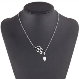 $enCountryForm.capitalKeyWord Australia - Vintage Double Layer Pendant Necklace Silver Women Owl And Leaf Design Chain Necklace Choker for Women Summer Jewelry Christmas Gift