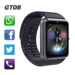 $enCountryForm.capitalKeyWord Canada - GT08 Smart Watch Sync Notifier Support Sim Card Bluetooth Connectivity Apple iphone Android Phone Smart Watch