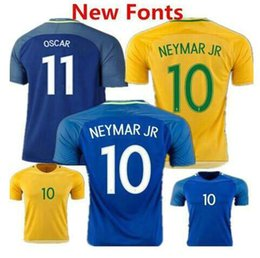 top thai quality 2016 brazil soccer jersey 2016 neymar jr home away t