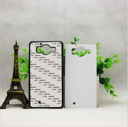 $enCountryForm.capitalKeyWord Canada - wholesale Hot Selling DIY 2D Sublimation Blank Rubber TPU+PC Case for NOKIA 950 With Aluminum Inserts Mobile Phone Case