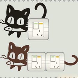 $enCountryForm.capitalKeyWord NZ - Lovely Cat Dog Pig Rabbit Cartoon Switch Wall Window Light Cup Computer Stickers PVC 1pcs