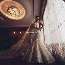 $enCountryForm.capitalKeyWord NZ - Vintage 2019 Mermaid Wedding Dresses Sweetheart Illusion Lace Long sleeve Covered Button Full Lace Bridal Gown
