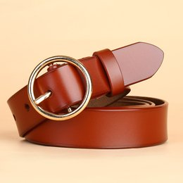 $enCountryForm.capitalKeyWord Canada - Manufacturers selling ladies leather belt Round pin buckle leather belt women's wholesale