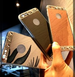 $enCountryForm.capitalKeyWord Canada - Luxury Bling Gillter Diamond Rhinestone Mirror Phone Case for iPhone X 8 7 5 6 6S plus XS Max XR Samsung Galaxy S8 S9 Plus note 8 9 Cover