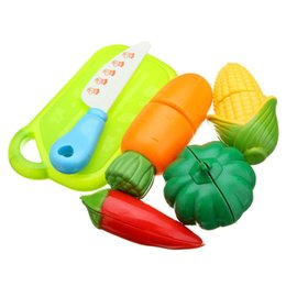 $enCountryForm.capitalKeyWord Australia - 6PCS Children Play House Toy Cut Fruit Plastic Vegetables Kitchen Baby Classic Kids Toys Pretend Playset Educational Toys