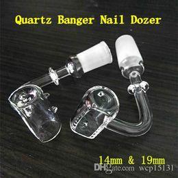 $enCountryForm.capitalKeyWord Australia - Quartz Trough Domeless Nails oil rig Banger Wax Rig with 14mm &19mm Male Female 90 degree Clear fit Glass Bongs Dab Rig