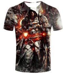 T-shirt Credo Pas Cher-Nouveautés Fashion Summer Men / Women Assassins Creed Harajuku Style Funny 3d Print Casual T-shirt S-5XL H95
