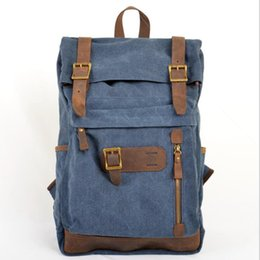 canvas string backpack NZ - Vintage canvas women backpacks fashion new plain designer backpacks for men women office versatile string female backpacks free shipping