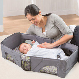 $enCountryForm.capitalKeyWord UK - Folding Portable Baby Bed Multifunctional Folding Travelling Bag High Quality Baby Cradle  Cribs Infant Travel Safety Cot