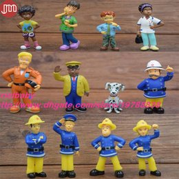 $enCountryForm.capitalKeyWord Australia - New 12PCS Fireman Sam Action Figures Helen Norman Tom Elvis Dilys Toys Dolls Birthday Gift Miniature Landscape Decoration