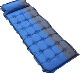 innovative sleeping pad fast filling air bag automatic inflatable mattress with pillow sleeping on water enjoy the life