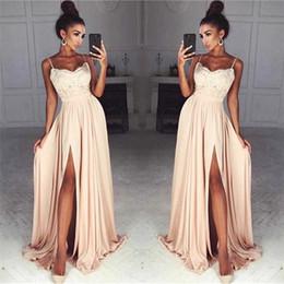 227bb67d2ec Cheap spaghetti strap tops online shopping - Cheap Chiffon Prom Dresses  Long Spaghetti Straps Lace Top
