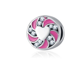 China Fits Pandora Bracelets 30pcs Swirl Spacer Enamel Silver Charm Bead Loose Beads For Wholesale Diy European Sterling Necklace Jewelry Women supplier swirl bracelet suppliers