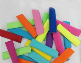 Venta al por mayor de Soportes para paletas Pop Ice Mangas Congelador Soportes Pop 15x4.2 cm para niños Herramientas de cocina de verano 10 colores