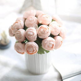 Korean Candy Color Circle Land Lotus Flower Simulation Trade Home Furnishing Decorative Plant Flowers Wedding Bouquet