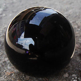 Sphere Healing Stone Canada - 40mm Asian Quartz Pure black Magic Crystal glass Healing Ball Sphere