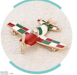 plane gifts NZ - Mens plane brooches pins good quality colours plane corsages for wedding party birthday gifts two colors