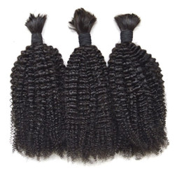 Brazilian Kinky Curly Braiding Hair UK - Human Hair Bulk For Braiding Hair 3pcs Lot Peruvian Virgin Afro Kinky Curly Top Quality Bulk Hair G-EASY