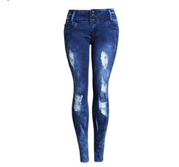Vintage Skinny Skinny Jeans Pas Cher-2017 Femmes Automne Broderie Vintage Sexy Ripped Jeans Pencil Stretch Denim Pantalons Femme Slim Skinny Trousers Jeans