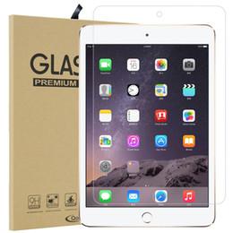 Toptan satış iPad Mini 2/3/4 Hava 2 iPad Pro 9.7 10.5 9H temperli cam Ekran Koruyucu ile Perakende Ambalaj iPad 10.2 11 inç 2019 için