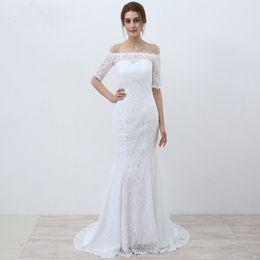Vestido blanco media manga