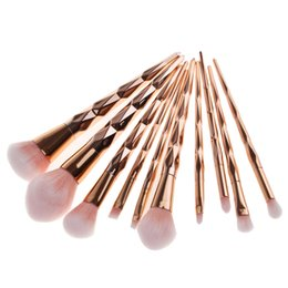rose gold makeup brush set Australia - 10pcs set Makeup Brush Set Blush Foundation Powder Eyebrow Eyeshadow Lip Highlighter Rose Gold Make Up Brush Soft Hair Cosmetic Tool