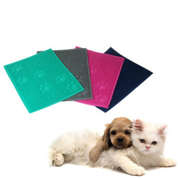 $enCountryForm.capitalKeyWord UK - Pet Dog Puppy Cat Feeding Mat Pad Cute Paw PVC Bed Dish Bowl Food Water Feed Placemat Wipe Clean Pet Supplies