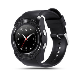 smartwatch heart rate gps UK - V8 Bluetooth Smart Watch Smartwatch Phone Watches with Sim TF Card Slot Clock Bluetooth Connectivity for ios Android Phone I7 7plus s7edge