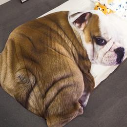 $enCountryForm.capitalKeyWord Australia - New 3D Cute Dog Cat Quilt Home Textile Soft Bedspread Kids Adult Bed Throw Sofa Warm Irregular Blanket Summer Quilts free shipping