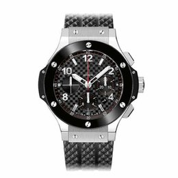 Strap vk online shopping - Top Bang Soft Rubber Strap Sport Men s Watches High Quality Ceramic Bezel Fashion Japanese VK Quartz Chronograph Wristwatches