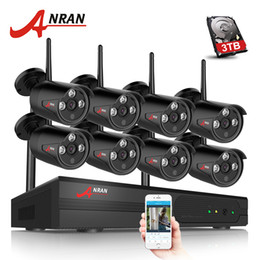 Surveillance hdd online shopping - ANRAN CH CCTV System Wireless P NVR MP IR Outdoor Waterproof P2P Wifi Security Camera System Surveillance Kit TB HDD Optional