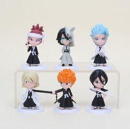 $enCountryForm.capitalKeyWord NZ - 6pcs set 7cm Anime Bleach Ichigo Ulquiorra cifer Renji Gin Toushirou PVC Action Figures Toys Dolls