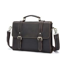 $enCountryForm.capitalKeyWord UK - Large Capacity Europe and America Men Vintage Men Briefcase Business Cow Leather Cover Male Handbag Computer Bag
