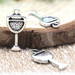 $enCountryForm.capitalKeyWord Canada - 30pcs- Wine Glass Charms , Antique Tibetan silver Wine Glass Charms pendants 20x10mm