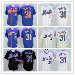 71ce3659a ... JERSEY 31 MIKE PIAZZA New York Mets 31 Mike Piazza White Blue Black  Mesh Batting Practice Cooperstown Collection BP Cool ...