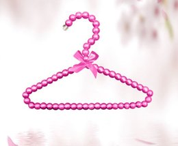 bow hats for dogs Canada - Luxury Pearl Hangers with Bow 20cm for Baby Infant Newborn Kids Pets Dogs Cats Clothes Storage Racks