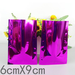 $enCountryForm.capitalKeyWord NZ - 200Pcs Lot 6*9cm Heat Seal Mylar Foil Bag Purple Aluminum Foil Coffee Storage Package Bag Plain Pocket Vacuum Food Pouches
