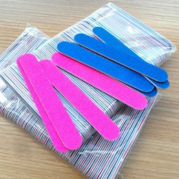 $enCountryForm.capitalKeyWord Canada - Wholesale- New Arrival100pcs Nail File Manicure Pedicure Buffer Sanding Files Wood Crescent Sandpaper Grit Nail Art Tool Wholesale
