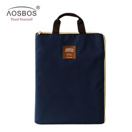 Organizer Bags Totes Canada - Wholesale- A4 Oxford File Folder Bag Men Portable Office Supplies Organizer Bags Casual Ladies Tote Document Handbag for Women