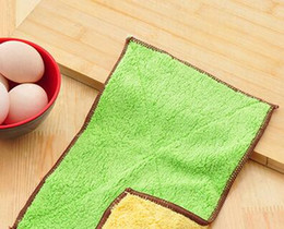 table hair Australia - Hot sale Microfiber double-sided water can not lose hair do not stick oil kitchen dish cloth CC010 Cleaning Cloths mix order as your needs