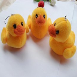 $enCountryForm.capitalKeyWord Canada - 50Pcs Lot Mini Giant Rubber Yellow Duck Plush Toys With Chain Pendants By Phone Ducks Soft Stuffed Gifts For Birthday Wedding 024