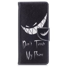 $enCountryForm.capitalKeyWord NZ - For Samsung Note 8 S8 Plus Cover Painted PU Leather Cases Flip wallet Card Stents holster Bad Smile Phone Bags