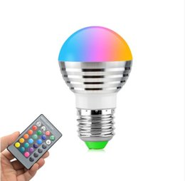 China Dimmable 16 Colors RGB Christmas Decor Atmosphere LED Night light E27 E14 3W 85V - 265V LED lamp Spotlight Bulb + IR Remote suppliers