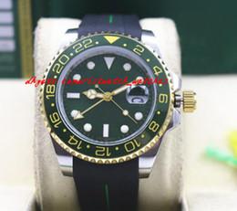 $enCountryForm.capitalKeyWord Canada - New Arrival 2018 Luxury 40mm 18K Gold Rubber Bracelet II Ceramic Green Dial # 116718 Warranty Mechanical Men Watches New Arrival