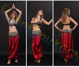 Latin Dance Performance Costumes Canada - shell bar belt Lantern pants set Belly Dance dress Sexy Dancer performance Costume Set modal Jazz Latin dance Clothes training Suit