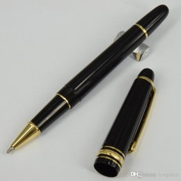 $enCountryForm.capitalKeyWord Canada - MT 145 mount roller ball pen black resin turning cap Luxury Pen White Solitaire Classique office writing pens